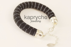 Black Silver Bracelet-2
