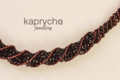 Purple Necklace Twisted Burgundy -2