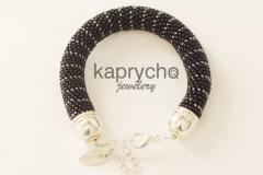 Black Silver Bracelet-1