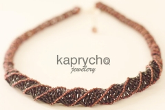 Purple Necklace Twisted Burgundy -1