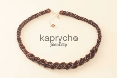 Purple Necklace Twisted Burgundy -3
