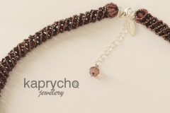 Purple Necklace Twisted Burgundy -4